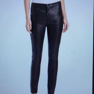 Mother Denim leather looker pant size 24.